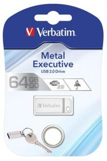 "USB KĽÚČ, 64GB, USB 2.0,  VERBATIM ""EXECUTIVE METAL"""