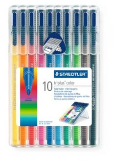 "FIXKYT, 1 MM, STAEDTLER ""TRIPLUS"", 10 RÔZNYCH FARIEB"