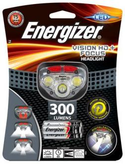 "LAMPA NA HLAVU, 3 LED, 3XAAA, ENERGIZER ""HEADLIGHT VISION HD FOCUS"""